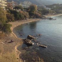 Der Strand beim Hotel
