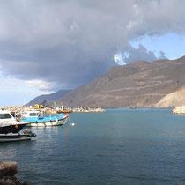 Kreta: im neuen Hafen von Chora Sfakion