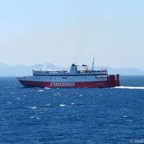 """Die """"Ekaterini P."""" auf der Fahrt nach Naxos"""