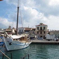 Anleger in Aegina - etwas weiter südlich vom Hafen