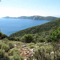 Blick auf die Südspitze von Meganisi....