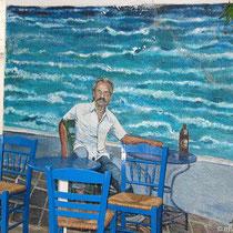 "Wandmalerei bei ""Andrikos"""