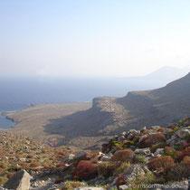 Karpathos: Blick auf die Westküste und Saria