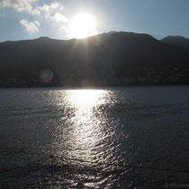 Aufgehende Sonne hinter Kalymnos