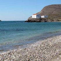 Nördlicher Lakka-Strand mit Agia Markella