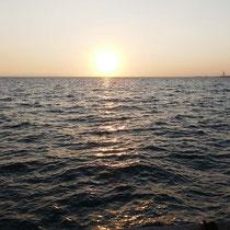 Letzter Sonnenuntergang für diesen Urlaub
