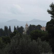 Blick auf das Kloster Agii Pantes