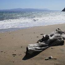 Strandspaziergang statt Bad