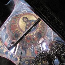 Deckenfresko im Katholikon