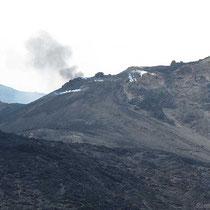 Der Vulkan hat Blähungen