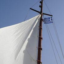 Karpathos: Das Segel ist gesetzt.