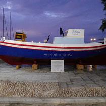 """Fearless boat"" eines Kunstprojektes"