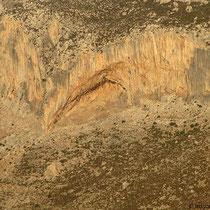 Der Kletterbogen gegenüber auf Kalymnos