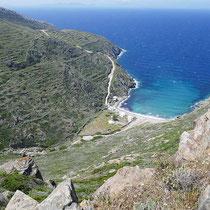 Blick auf die Bucht von Vroulidia