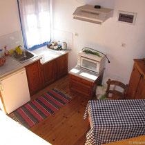 Unteres Stockwerk mit Küche
