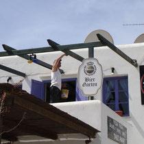Folegandros: Saisonvorbereitungen beim Biergarten...