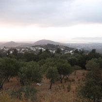 Blick von Zia aus nach Nordwesten