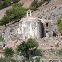 Kreta: Kapellenruine in Agia Roumeli