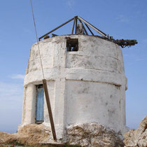 Anafi: Windmühle in Chora
