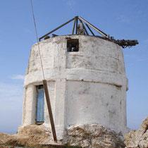 Anafi: Windmühle in Chora
