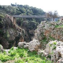 Nochmals die Brücke, grün eingerahmt