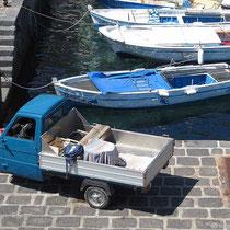 Dreirad am Hafen