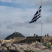 Lykebettos und Aussichtsplatz an der östlichen Akropolis