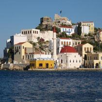 Burg, das geköpfte italienische Gouverneurshaus und die Moschee