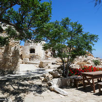Der Picknickplatz vor dem Kloster