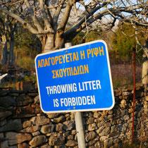 Müll deponieren verboten