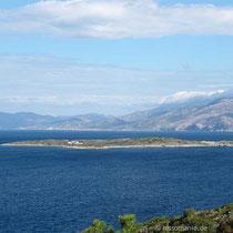 Vorgelagerte Insel Agios Stefanos