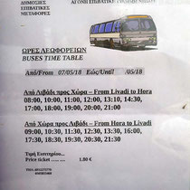 Busfahrplan Livadi-Chora