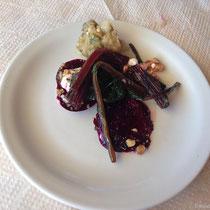 Rote Bete und Auberginensalat