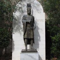 Statue von Konstantinos XI Paleologos, letzter byzantinischer Kaiser
