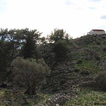 Blick auf die Panagia-Kapelle