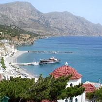 Karpathos: die Uferpromenade von Diafani