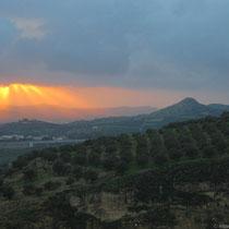 Sonnenuntergang bei Ambelouzos