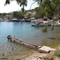 An der Marina im Norden der Bucht