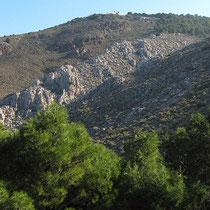 Blick zum Kloster der heiligen Evpraxia