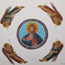 Deckenfresko Kirche Konstantin und Eleni
