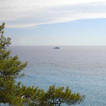 Kreta: Die Fähre zieht vorbei