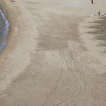 Ob der Strand manchmal überflutet ist?