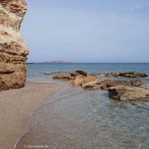Sand und Felsen