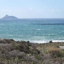 Blick auf die Paximadia-Inseln