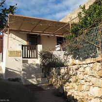 Casa di Maria am Ende einer steilen Rampe
