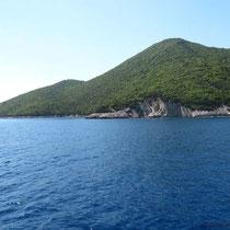 Die Nordostspitze von Ithaki