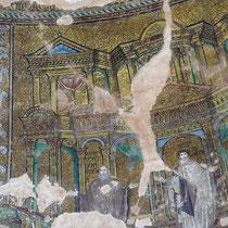 Mosaikenreste an der Kuppel