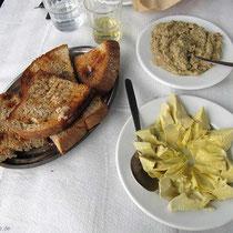 Artischocken und Kapernsalat