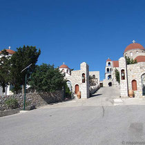 Auffahrt zum Kloster Agios Savvas