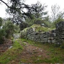 Wie die alte Stadtmauer